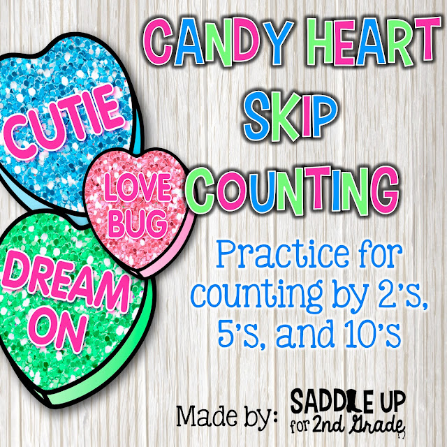 Who doesn't love some Valentine's Day GLITTERY fun?!? These skip counting puzzles are great practice for counting by 2's, 5's, and 10's. This is a fun activity that your class will love!