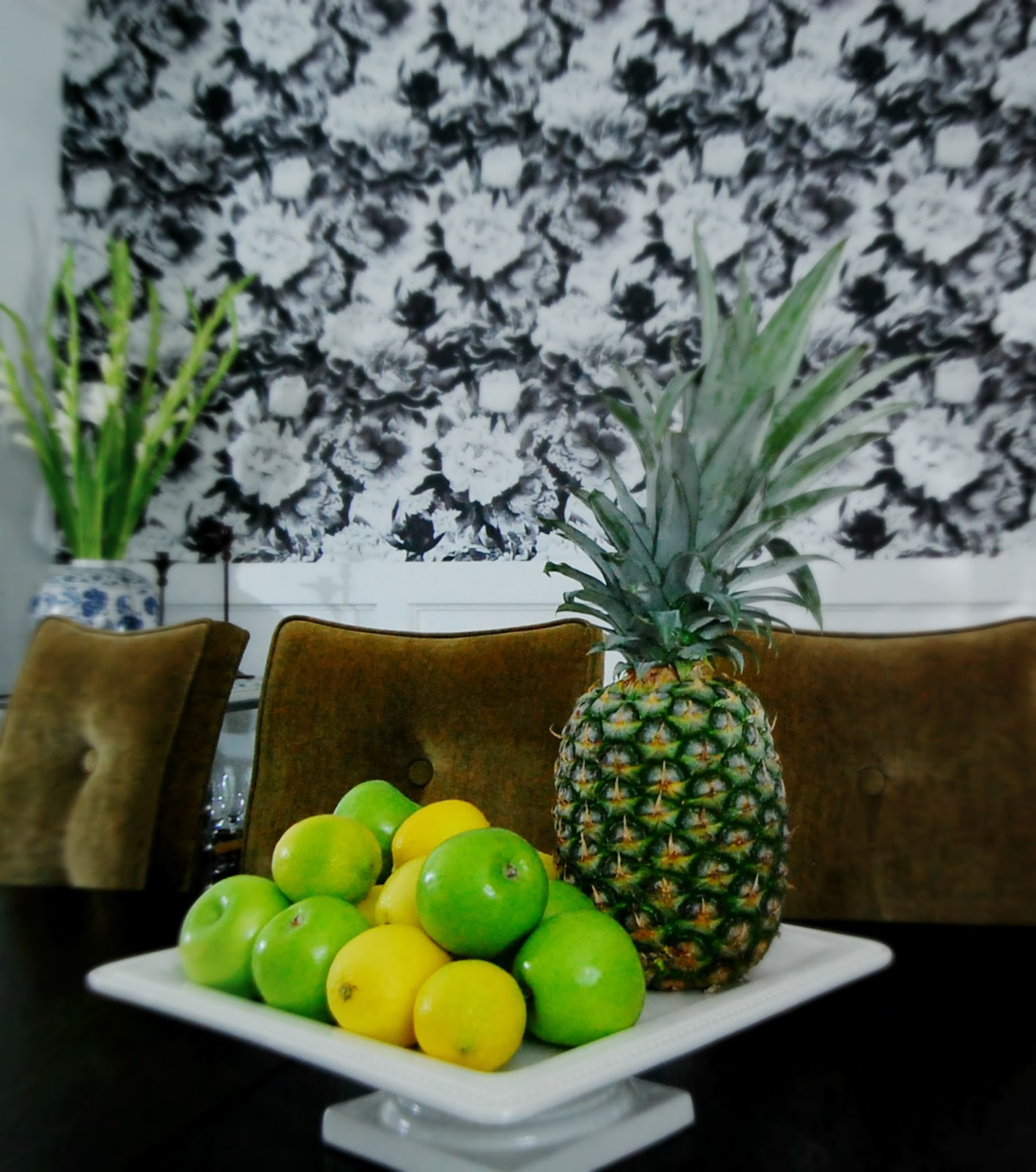 pineapple decor modern mid century farmhouse interior design dining room