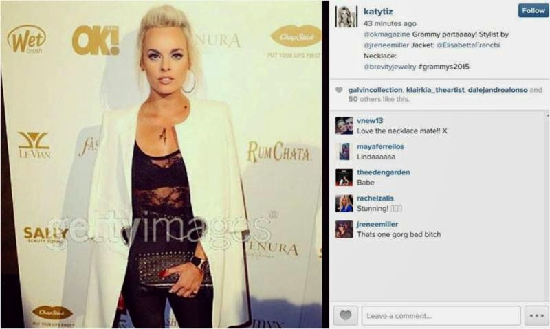 Katy Tiz wearing Brevity Jewelry