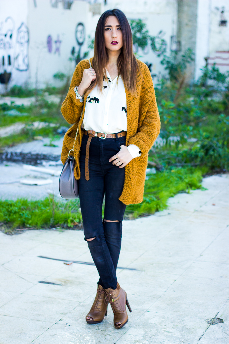 mustard and black
