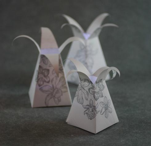 Three floral paper DIY lanterns