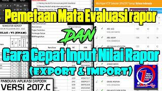 Cara input Nilai Rapor Menggunakan menu Export dan Import di Dapodik 2017c