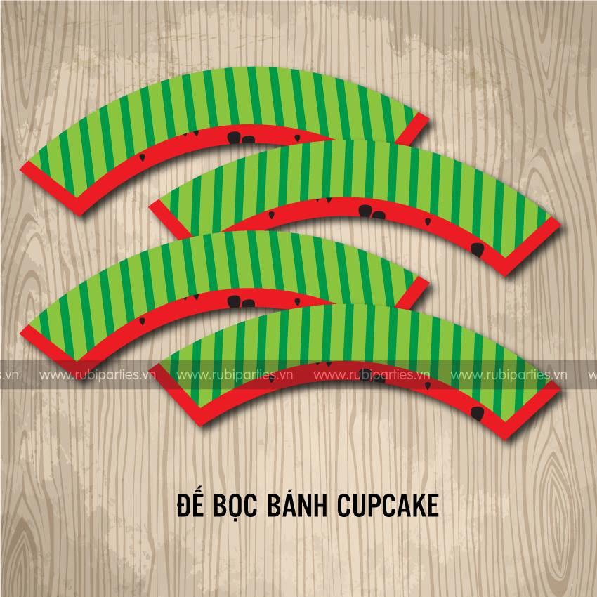 De boc banh cupcake sinh nhat theo chu de Dua Hau