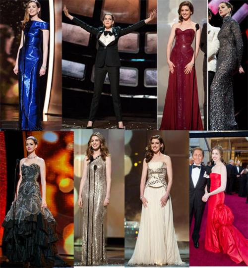 Anne Hathaway Oscar Award: Anne Hathaway Oscar Looks