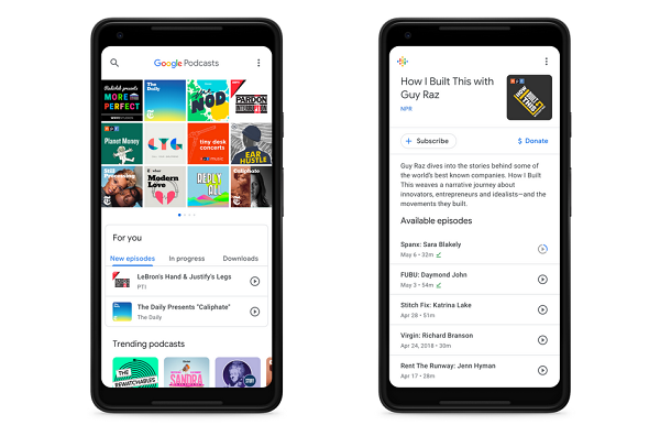 Google Podcasts app launches on Android