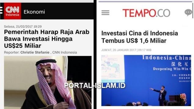 WOW! Investasi Raja Arab ke Indonesia Capai US$ 25 Miliar, Cina Langsung Tenggelam Hanya US$ 1,6 Miliar