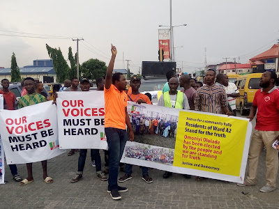 APC Lagos LG Poll: Youth, Residents Protest Beg Tinubu For Intervention