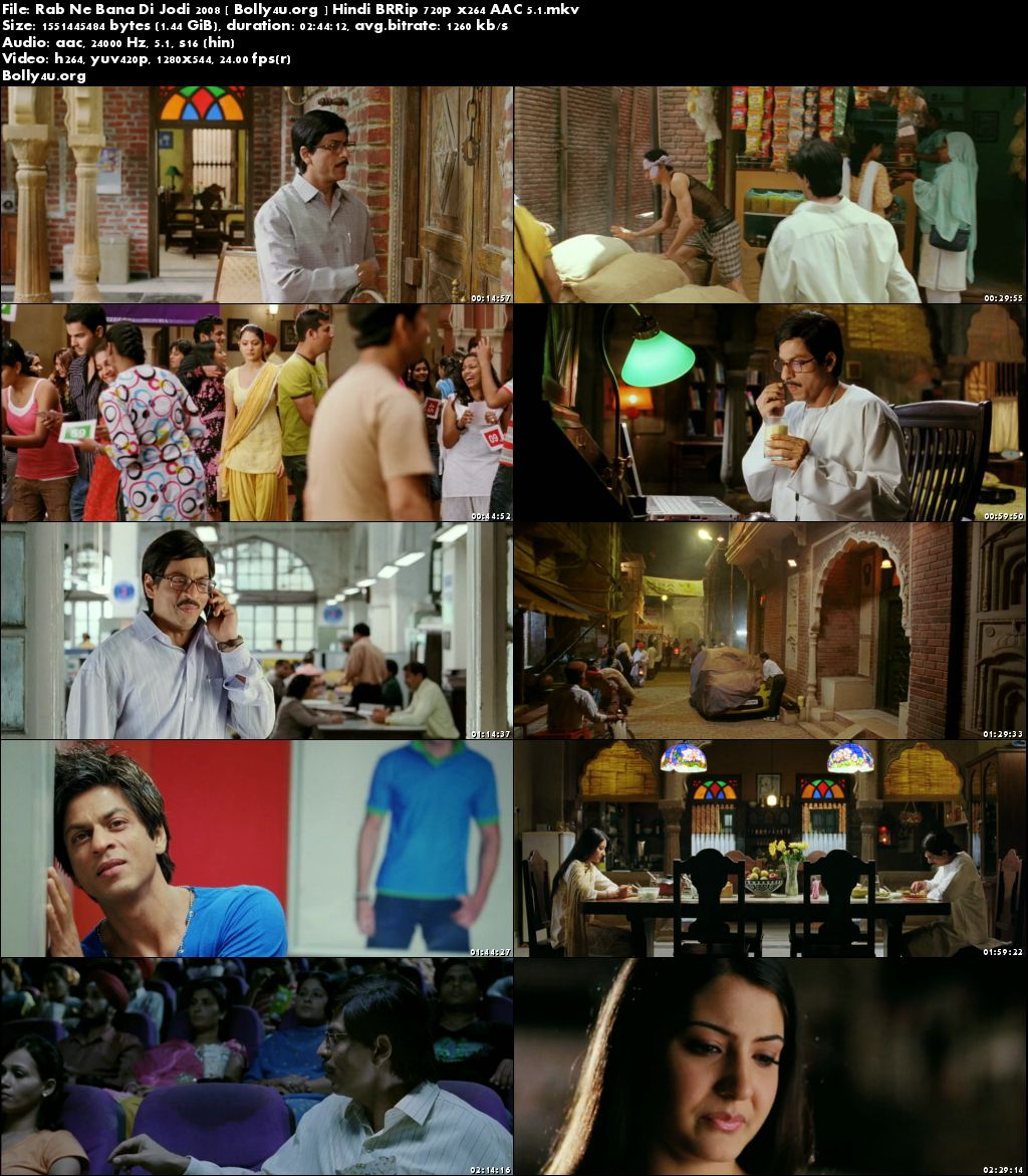 Rab Ne Bana Di Jodi 2008 BluRay Full Hindi Movie Download 720p