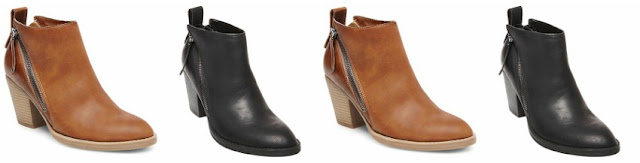 dv Jameson Double Side Zip Booties $19 (reg $38)