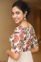 Ritu Varma smiling face Cream Anarkali dress at launch of OPPO New Selfie Camera F3 ~  Exclusive 078.JPG