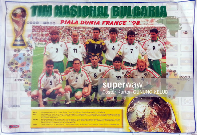 BULGARIA WORLD CUP 1998 FRANCE