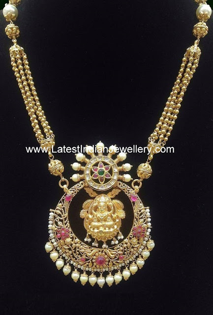 Mahalakshmi Haram in Chandbali Design