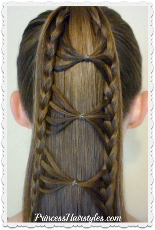Bow Tie Braid Ponytail Hair Tutorial - Hairstyles For ...