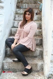 Telugu Actress Aditi Singh Stills in Leather Pants at Nenu Kidnap Iyanu Movie Press Meet  0213.JPG