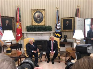 Kissinger with Trump