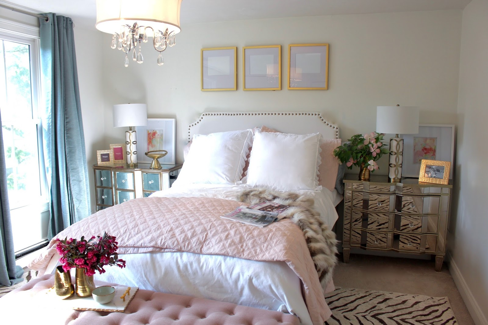 ROOM REVEAL: Pink and Gold Feminine Bedroom (My Guest Room) With ...