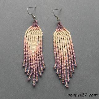 Бисерные серьги - украшения от Anabel