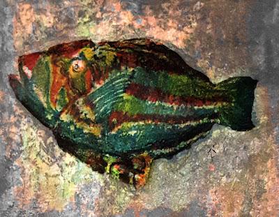 green fish painting pat calabro