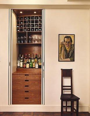 Decora el hogar ideas de decoraci n para el mini bar - Built in home bar ...