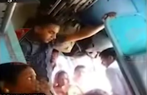 An alleged Railway Police Force constable was caught on camera thrashing a vendor recently.  The video shows a man dressed in civvies beating up another man, who is helplessly sitting on the floor, accepting the beatings meekly.