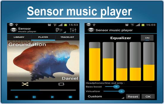android Sensor Music player