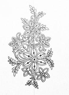 Buti khaka drawings for saree design. Top 5 patterns for hand emroidery flowers type butta khaka drawings