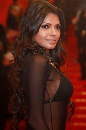 Sherlyn-Chopra-See-through-Black-dress