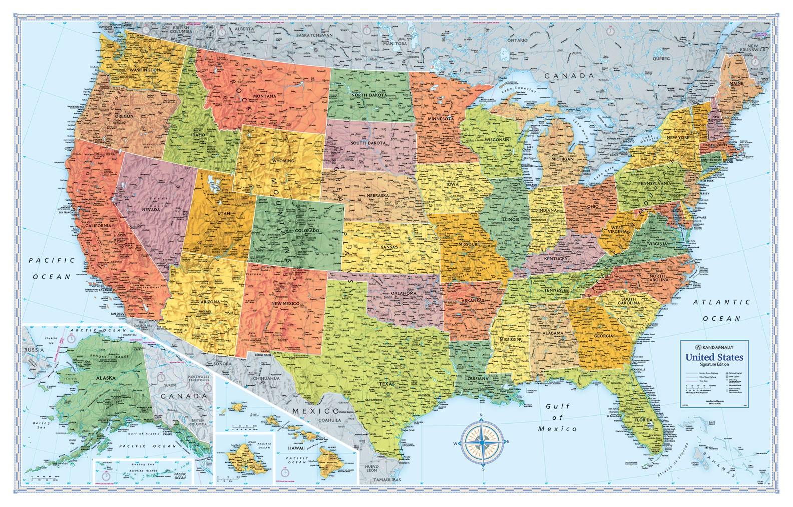 Rand McNally Signature Map of the U.S.