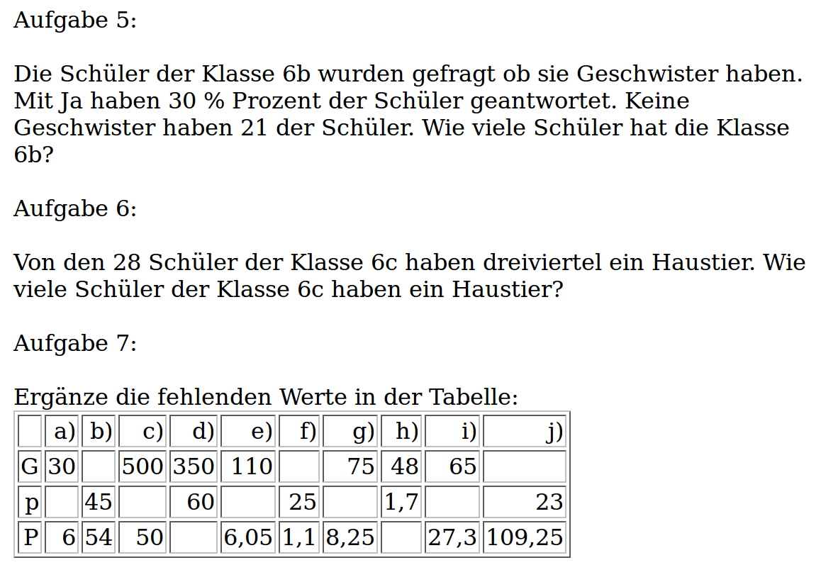 Mathe ist einfach: Aufgaben Prozentrechnung Blatt 2