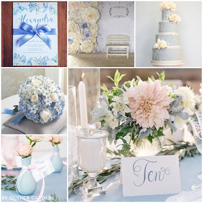 Spring Fling | Light Blue & Blush Sweet Fifteen ...