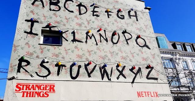 Warszawa Warsaw warszawskie murale Nowy Świat pawilony graffiti alfabet