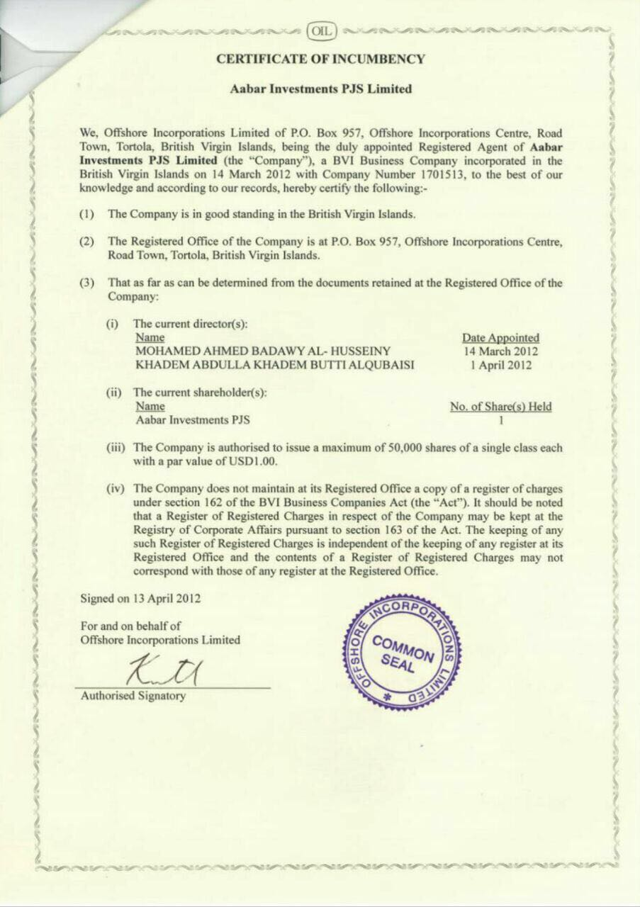certificate of incumbency template free - lss us doj says yes but 1mdb says no why