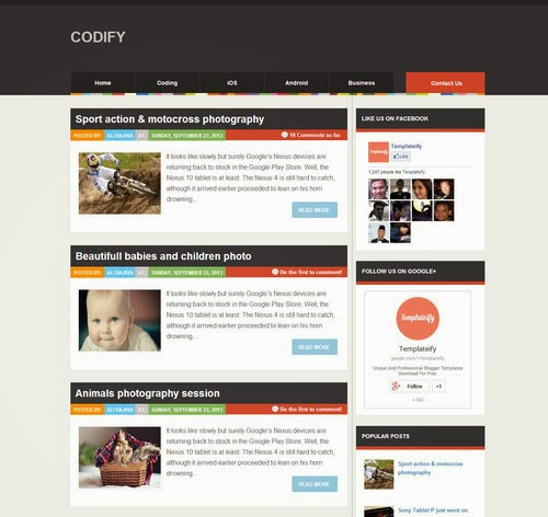 Codify Magazine Blogger Template