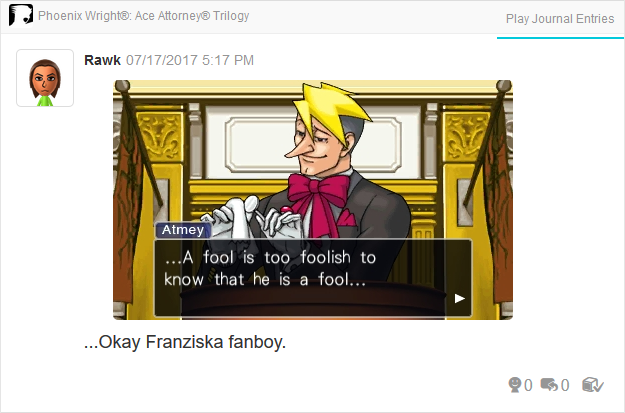 Phoenix Wright Ace Attorney Trials and Tribulations Luke Atmey fool foolish