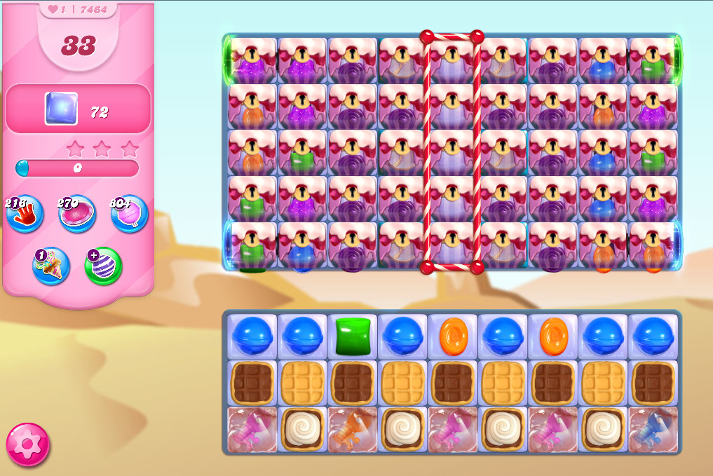 Candy Crush Saga level 7464