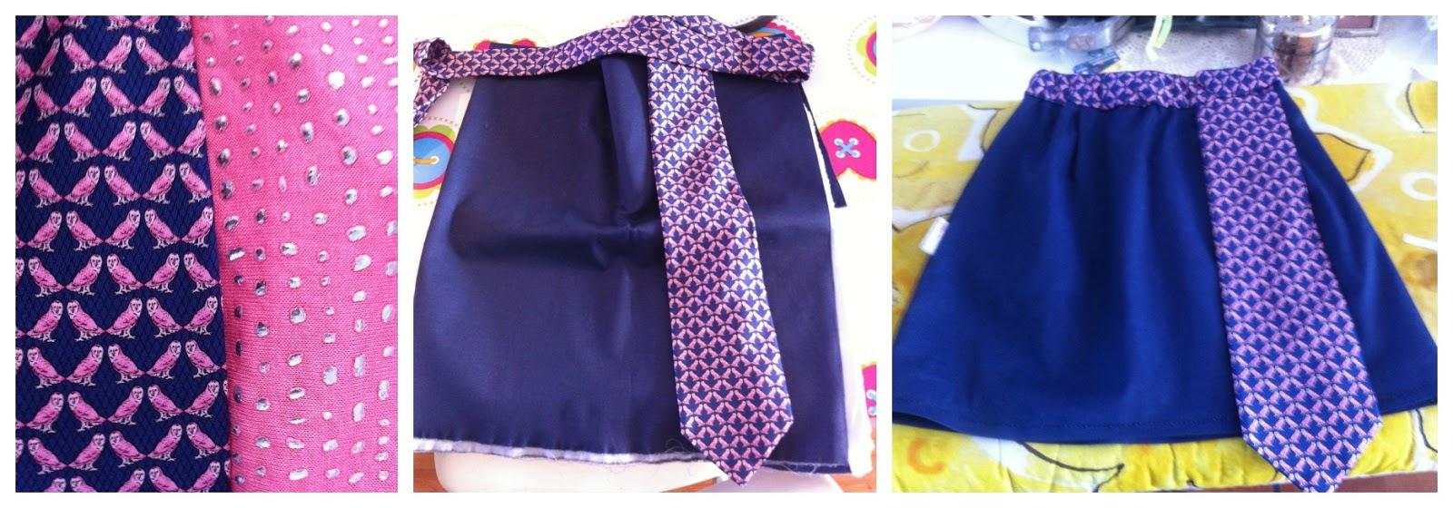 30d829b9bf7cfa Het verschil met de rok van Eefke is dat ik hier de stropdas niet heb  geplooit. Het was nl best een uitdaging voor mijn naaimachine om door  zoveel lagen ...