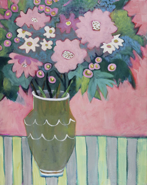 "Contemporary Still Life Art Painting ""ROSY MORNING"" by Santa Fe Artist Annie O'Brien Gonzales"