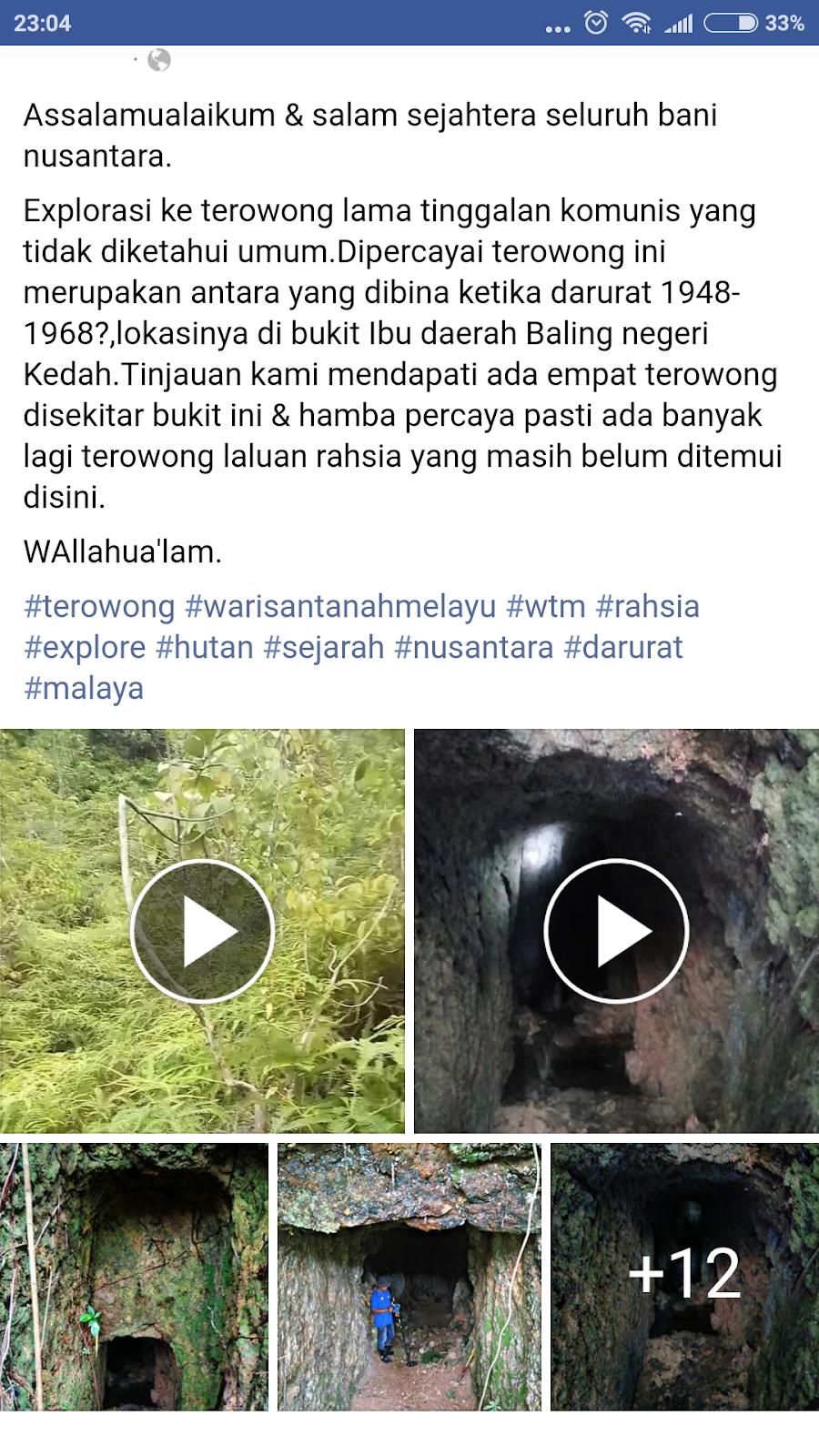 Misteri Penemuan Beberapa Terowong Dipercayai Tinggalan Komunis Di Kopi Bos By Ila Arifin Amr Assalamualaikum Salam Sejahtera Seluruh Bani Nusantara