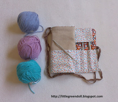 Funda agujas ganchillo Crochet Needle Case