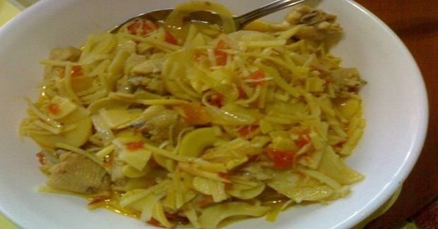 Labong (Bamboo Shoots With Chicken Wings) Recipe