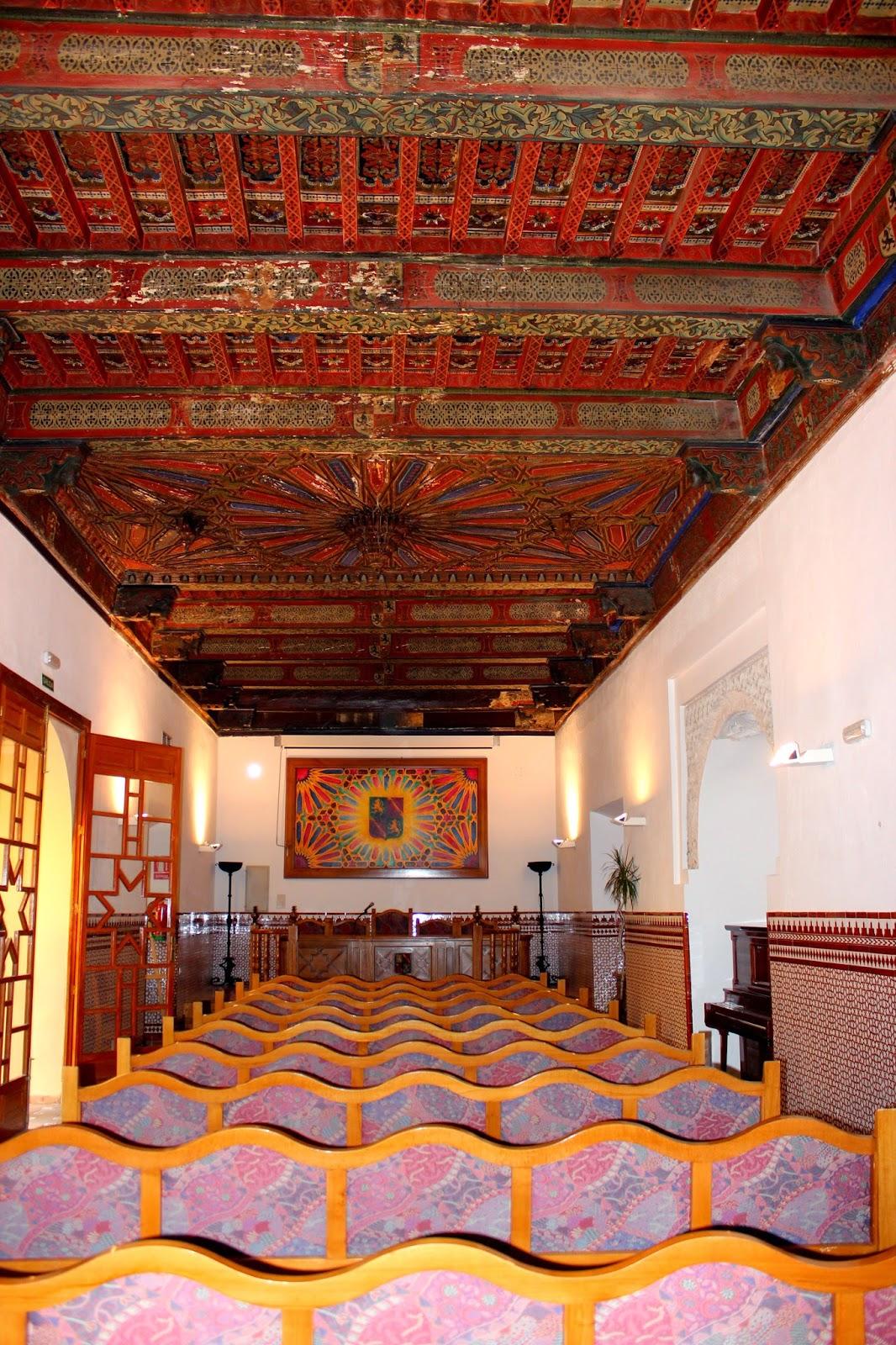 Alfarje del salon Mudéjar del Palacio de los Condestables en Jaén