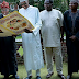 Lai Mohammed, Femi Adeshina, Abike Dabiri Visit Buhari In London [Photos]