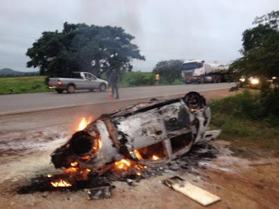 Acidente com caminhão-tanque deixa uma pessoa morta na BR-135 no Maranhão