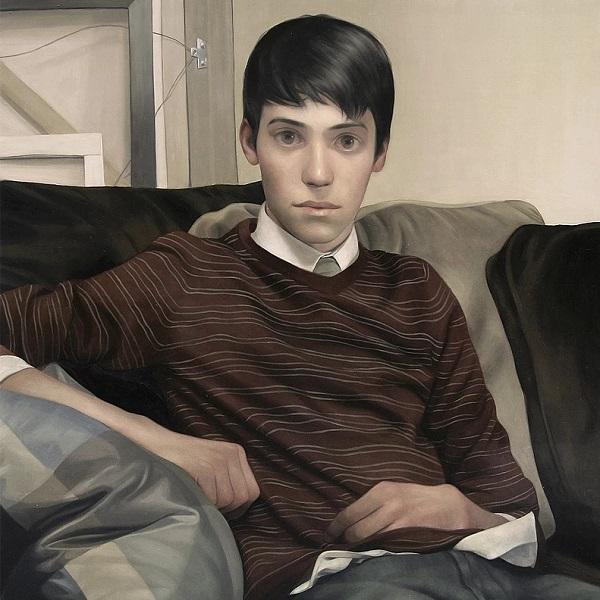 Lu Cong arte inspirador, ojos miradas expresivas, retrato hombre joven, imagenes