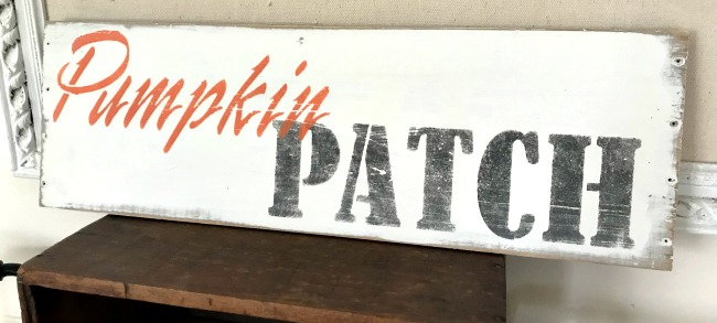Pumpkin Patch Stenciled Sign