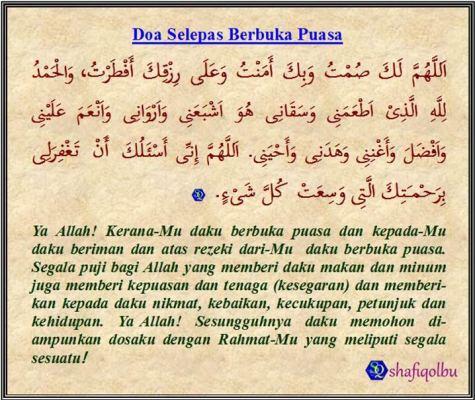 doa selepas berbuka