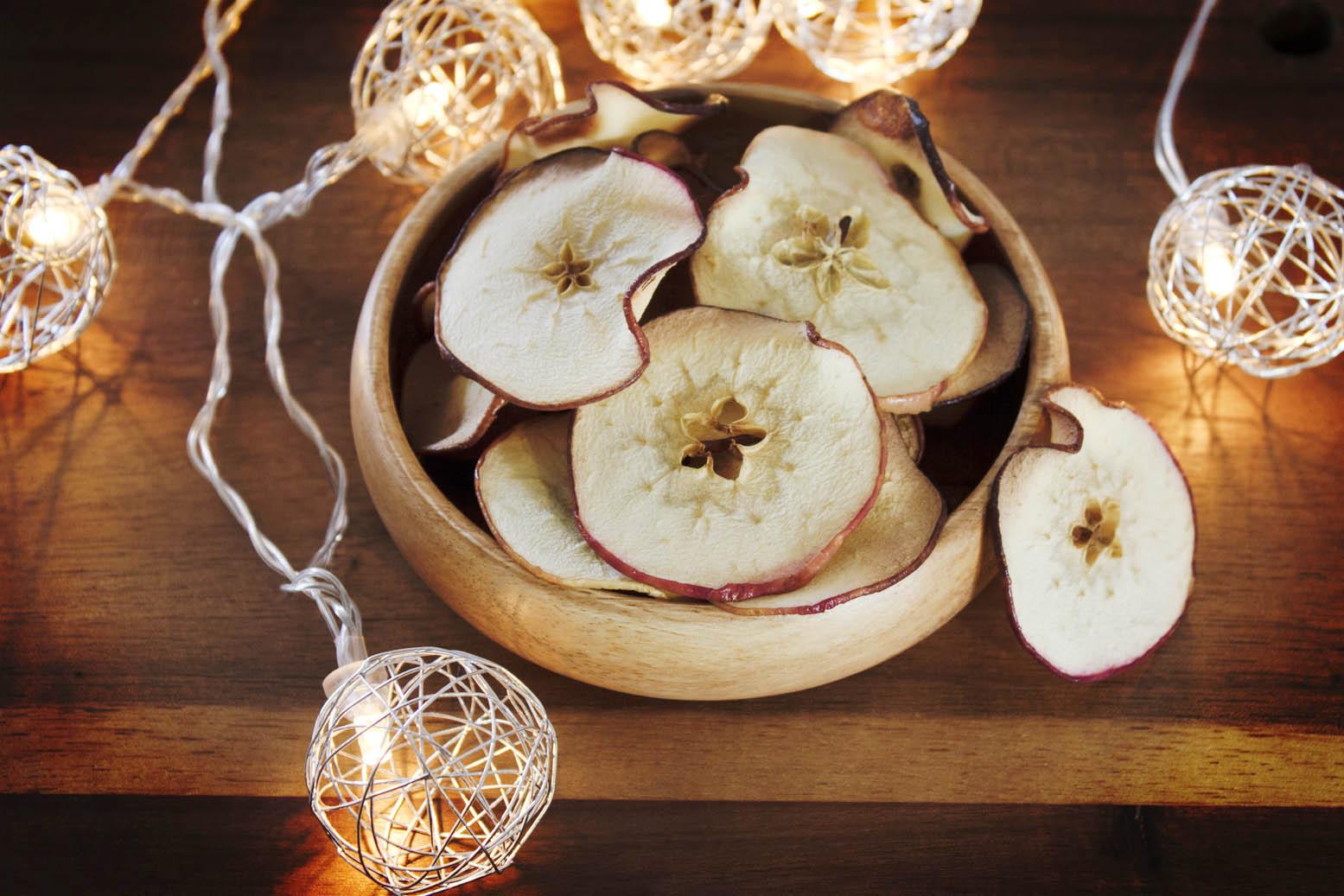 fatias de maçã