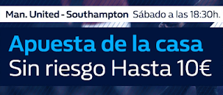 William Hill promocion Manchester United vs Southampton 30 diciembre
