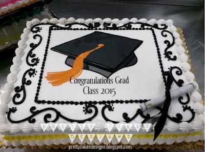 Pretty Cakes Designs Happy Graduation Class Of 2015