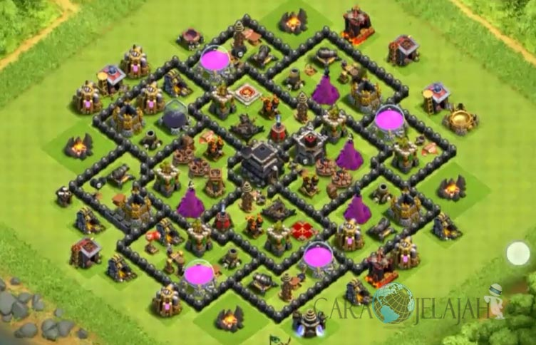 Base Trophy TH 9 COC Update Bomb Tower Terbaru 2017 Tipe 19